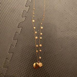 J crew gold disc long necklace